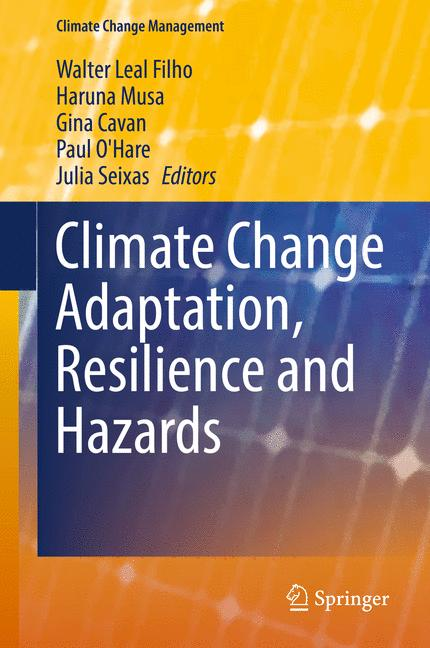 Cover of 'Climate Change Adaptation, Resilience and Hazards'