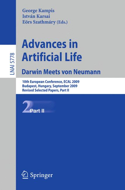 Cover of 'Advances in Artificial Life. Darwin Meets von Neumann'