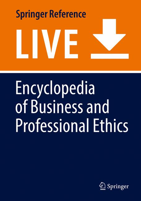 Cover of 'Encyclopedia of Business and Professional Ethics'