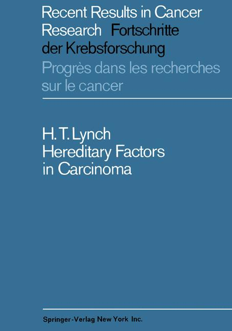 Cover of 'Hereditary Factors in Carcinoma'