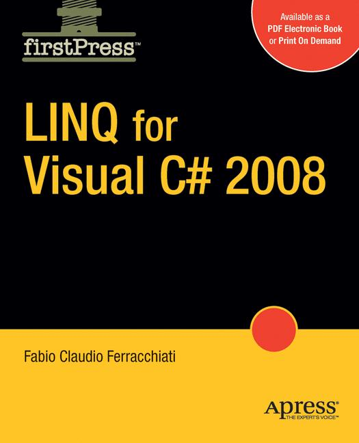 Cover of 'LINQ for Visual C# 2008'
