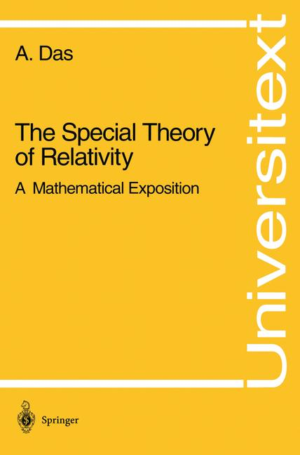 Cover of 'The special theory of relativity : a mathematical exposition'