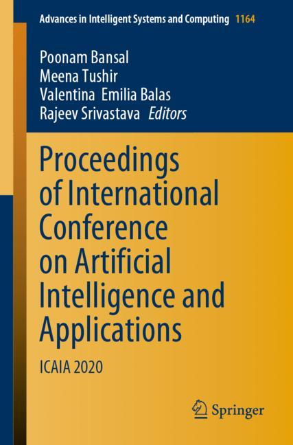 Cover of 'Proceedings of International Conference on Artificial Intelligence and Applications'