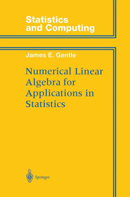 Cover of 'Numerical Linear Algebra for Applications in Statistics'
