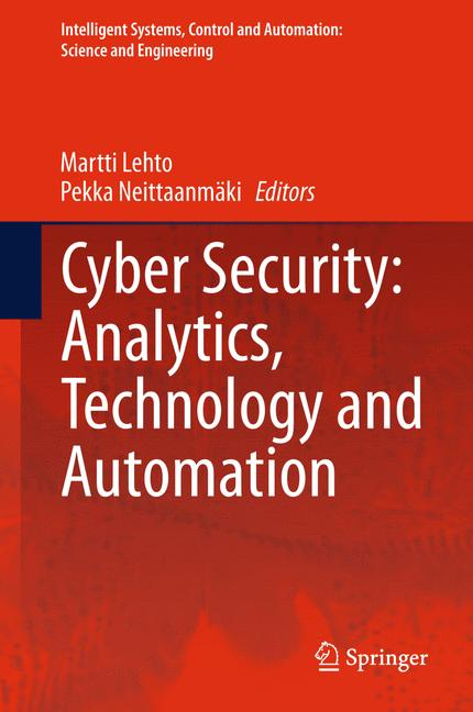 Cover of 'Cyber Security: Analytics, Technology and Automation'