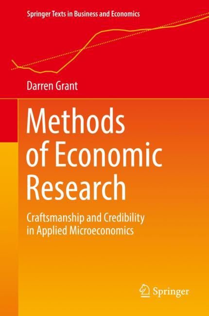 Cover of 'Methods of Economic Research'