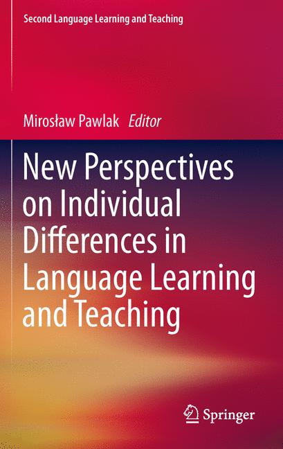 Cover of 'New Perspectives on Individual Differences in Language Learning and Teaching'