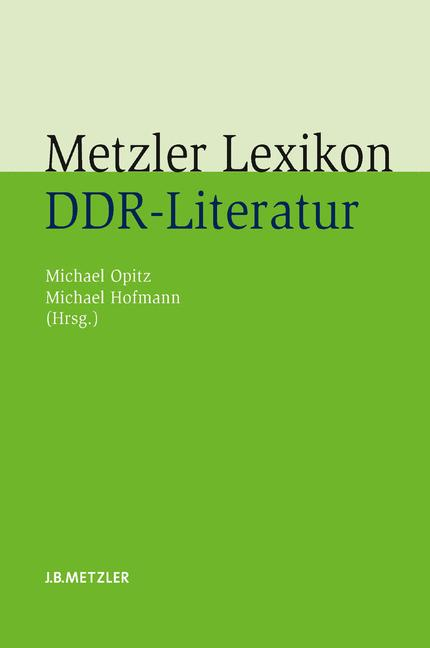 Cover of 'Metzler Lexikon DDR-Literatur'