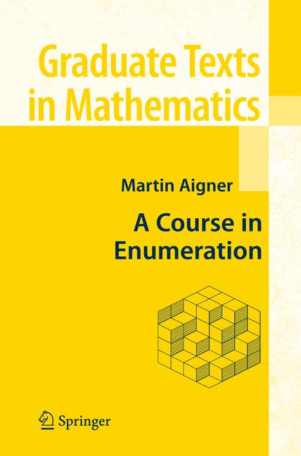 Cover of 'A course in enumeration'