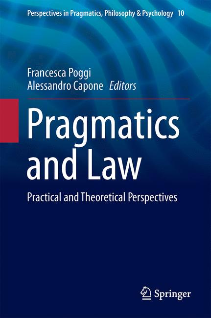 Cover of 'Pragmatics and Law'