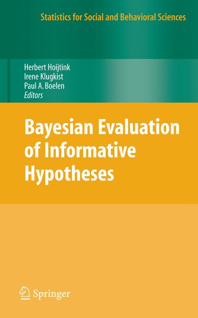 Cover of 'Bayesian Evaluation of Informative Hypotheses'