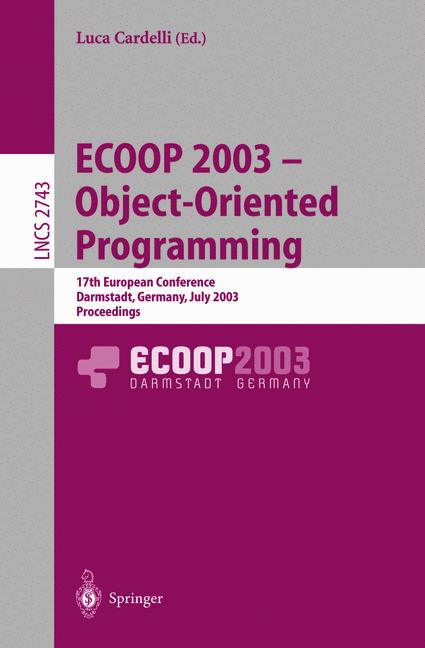 Cover of 'ECOOP 2003 - Object-Oriented Programming'