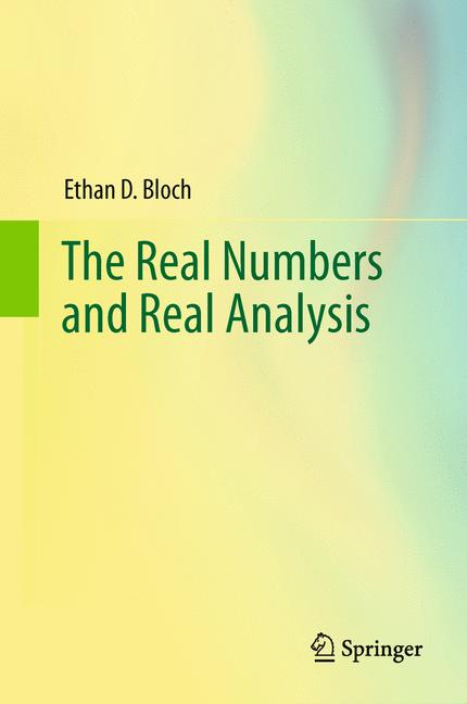 Cover of 'The Real Numbers and Real Analysis'
