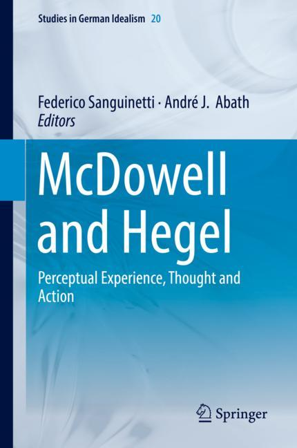 Cover of 'McDowell and Hegel'