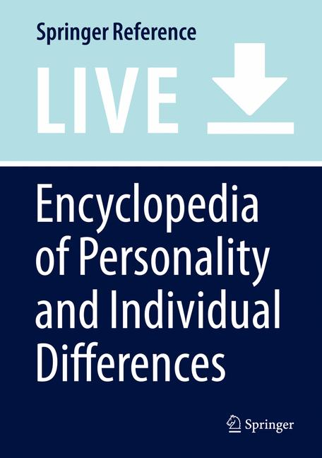 Cover of 'Encyclopedia of Personality and Individual Differences'