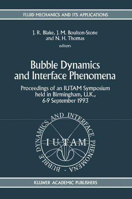 Cover of 'Bubble Dynamics and Interface Phenomena'