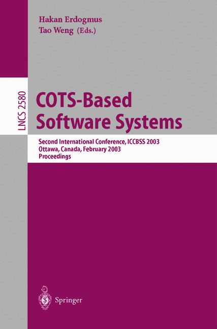 Cover of 'COTS-Based Software Systems'