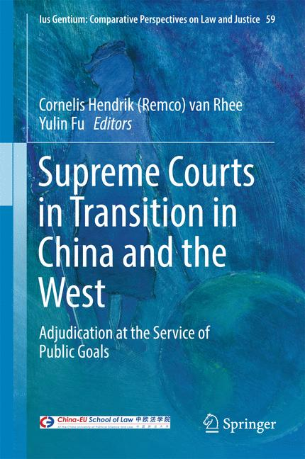 Cover of 'Supreme Courts in Transition in China and the West'