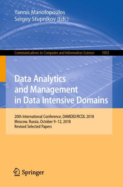 Cover of 'Data Analytics and Management in Data Intensive Domains'
