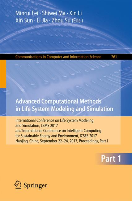 Cover of 'Advanced Computational Methods in Life System Modeling and Simulation'