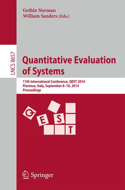 Cover of 'Quantitative Evaluation of Systems'