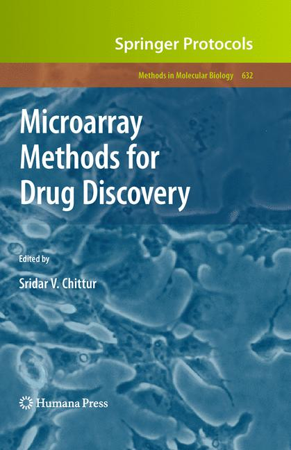 Cover of 'Microarray Methods for Drug Discovery'