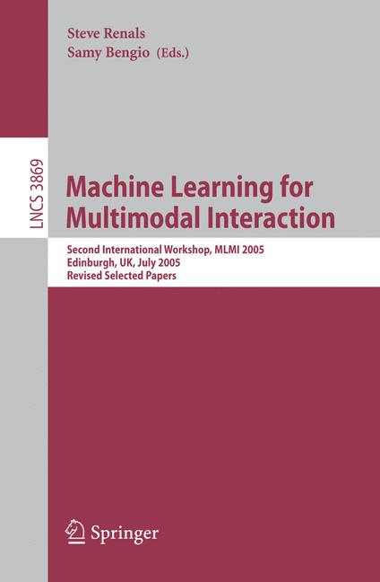 Cover of 'Machine Learning for Multimodal Interaction'