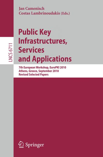 Cover of 'Public Key Infrastructures, Services and Applications'