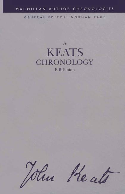 Cover of 'A Keats Chronology'