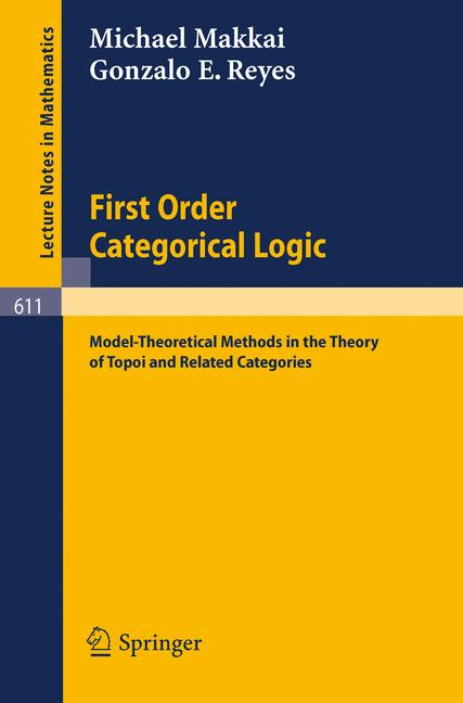 Cover of 'First Order Categorical Logic'
