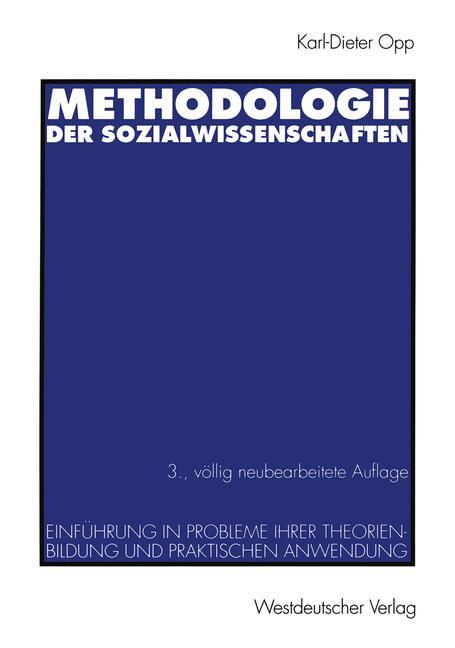 Cover of 'Methodologie der Sozialwissenschaften'