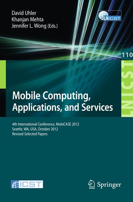 Cover of 'Mobile Computing, Applications, and Services'