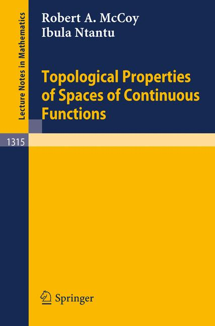 Cover of 'Topological properties of spaces of continuous functions'