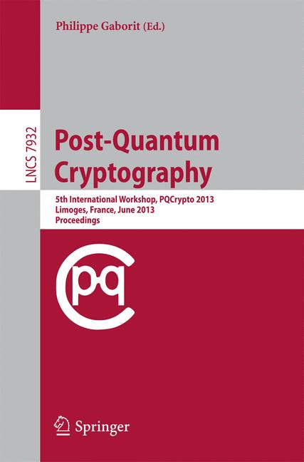 Cover of 'Post-Quantum Cryptography'