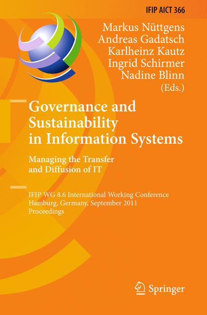 Cover of 'Governance and Sustainability in Information Systems. Managing the Transfer and Diffusion of IT'