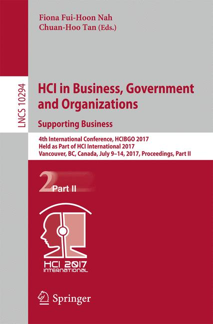 Cover of 'HCI in Business, Government and Organizations. Supporting Business'