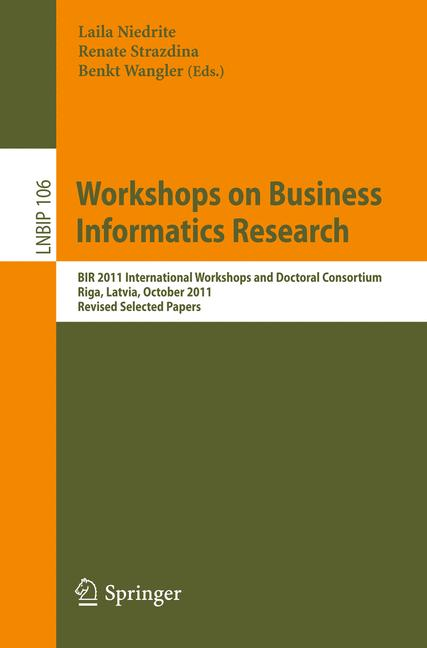 Cover of 'Workshops on Business Informatics Research'