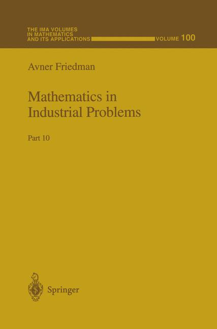Cover of 'Mathematics in Industrial Problems : Part 10'