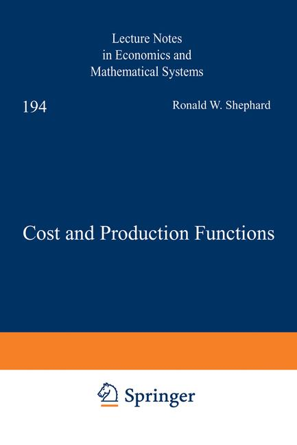 Cover of 'Cost and Production Functions'