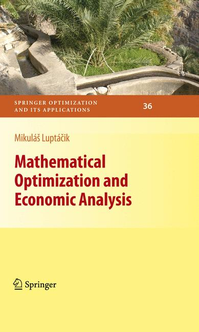 Cover of 'Mathematical Optimization and Economic Analysis'