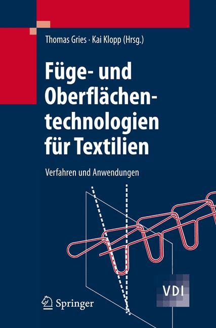 Cover of 'Füge- und Oberflächentechnologien für Textilien'