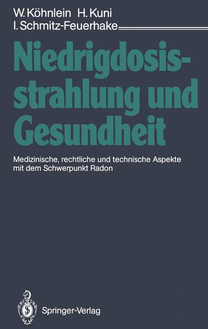 Cover of 'Niedrigdosisstrahlung und Gesundheit'