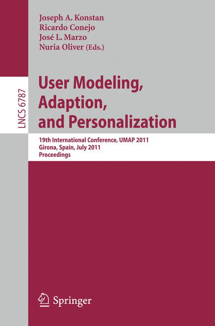 Cover of 'User Modeling, Adaption and Personalization'