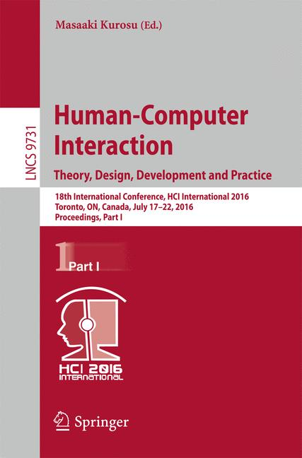 Cover of 'Human-Computer Interaction. Theory, Design, Development and Practice'