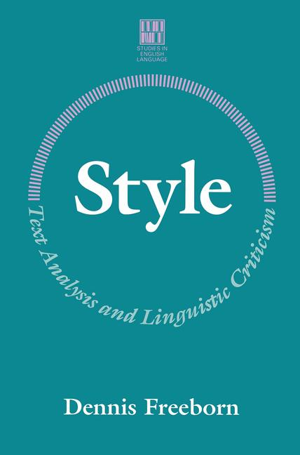 Cover of 'Style : text analysis and linguistic criticism'