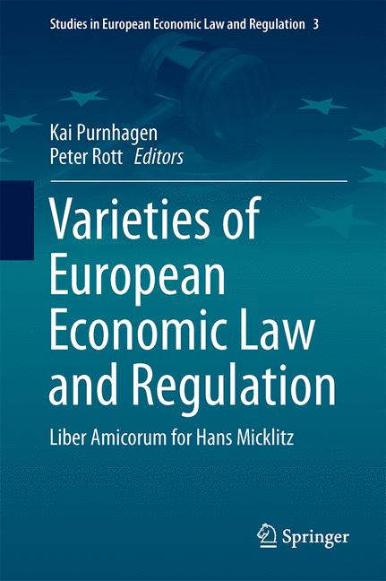 Cover of 'Varieties of European Economic Law and Regulation'