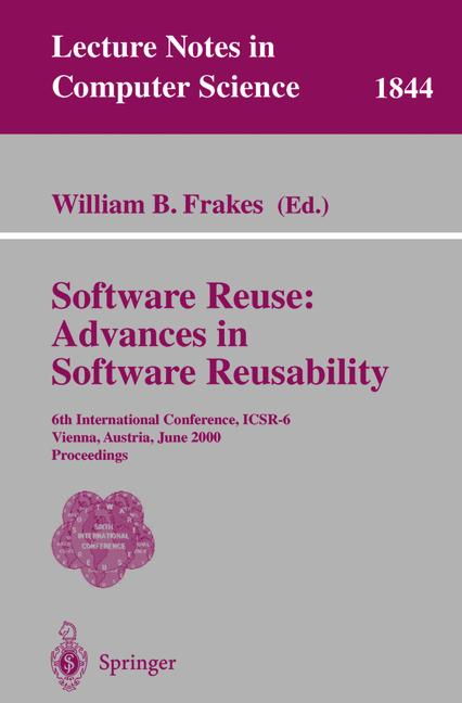 Cover of 'Software Reuse: Advances in Software Reusability'