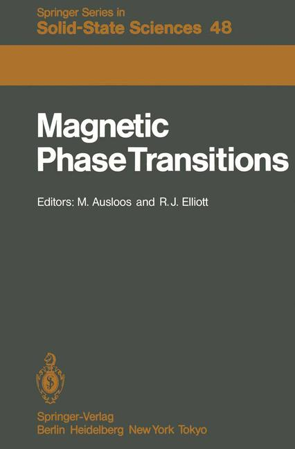 Cover of 'Magnetic Phase Transitions'