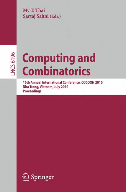Cover of 'Computing and Combinatorics'