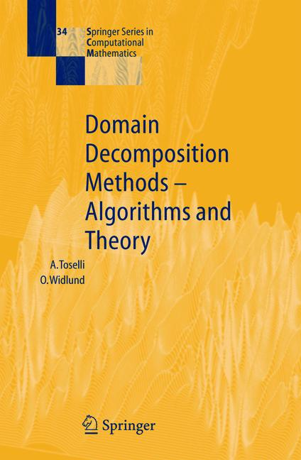 Cover of 'Domain Decomposition Methods — Algorithms and Theory'